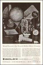 1958 vintage AD BOLEX Swiss made 8 and 16 mm Movie Cameras  Paillard 060517