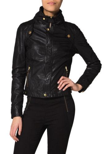 Soft Biker Wj028 Genuine Leather Lambskin Jacket Women's Motorcycle 100 New q0v4Un