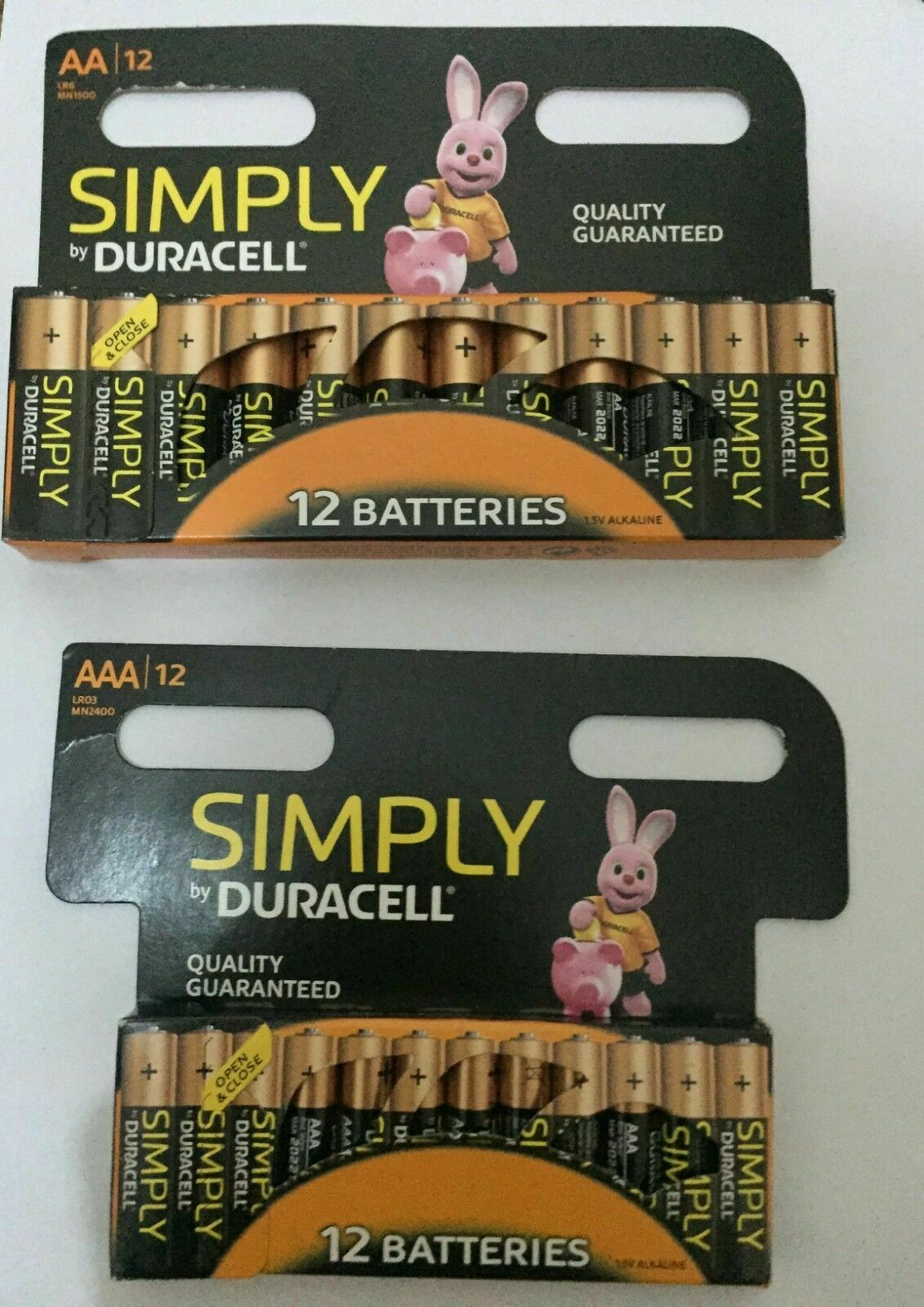 12 x DURACELL Simply AA + 12 x Duracell Simply AAA 1.5 batteries - LONG EXPIRY