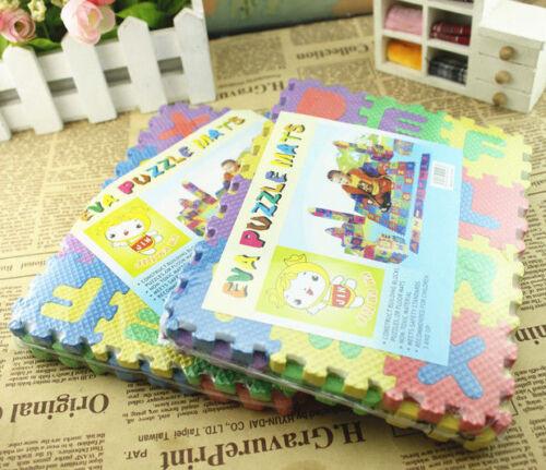 4.5*4.5cm Puzzle Kid Educational Toy A-Z Alphabet Letters Numeral Foam Mat 36pcs