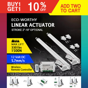 500-1500N 2-18/'/' DC 12V Linear Actuator Motor For Auto RV Electric Door Opener