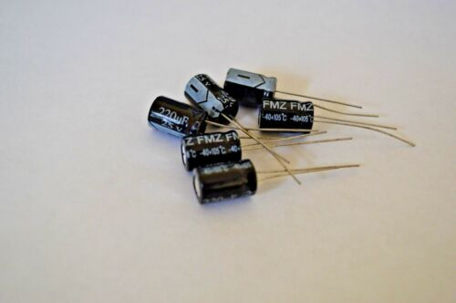 6Pcs 8X13mm 220uf 25V  105C