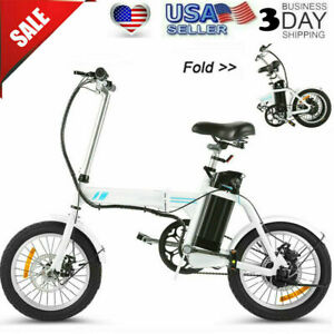 """16""""& Folding Electric Bike Commuter Bicycle City Ebike With Removable Battery *"""