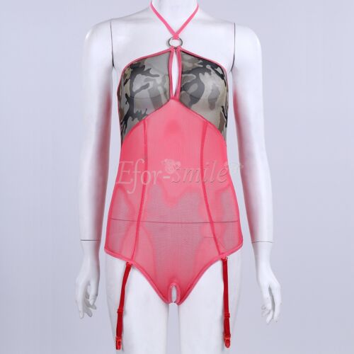 Women-Sexy-Lingerie-Lace-Dress-Underwear-Babydoll-Sleepwear-G-string Translucent