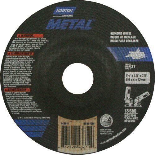 Norton Metal,Depressed Center Cut-Off//Grinding Wheel,4-1//2/'/' x1//8/'/'Thick x7//8/'/'