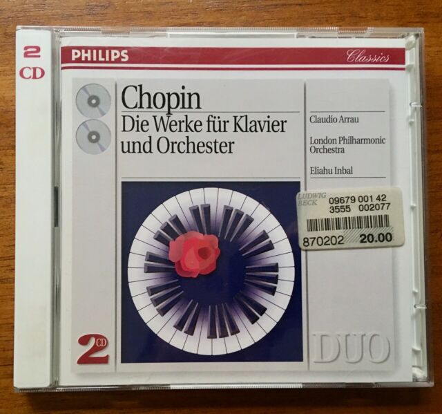 CHOPIN - DIE WERKE FÜR KLAVIER UND ORCHESTRA - 2CD 1993 NEARMINT