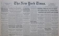 1-1931 JANUARY 8 FRANCE HONORS JOFFRE MRS HART LANDS BERMUDA CHINA LOAN AID