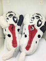 101 Dalmatian Slippers Fluffy Disney Shoes Black White Ears Limited Exclusive