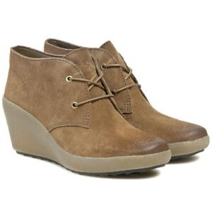 Khaki Melody Nice Size Boots Wedge Suede Ladies D 7 Clarks Uk Ft6wqSE
