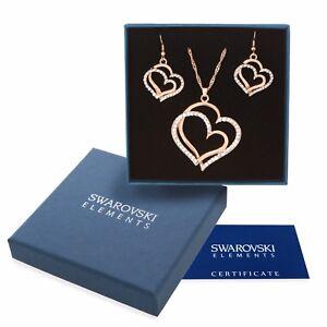 Parure-oro-bianco-Swarovski-Element-originale-G4Lov-cristalli-cuori-donna-regalo