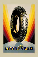 Goodyear Tire Ad Pneu Car Automobile Fine Vintage Poster Repro Free Sh
