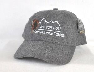 625c9edab8e785 JACKSON HOLE SNOWMOBILE TOURS* WYOMING Wool Ball cap hat embroidered ...