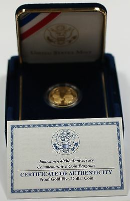 2007 Jamestown 400th Anniversary Commemorative Silver Coin w Box /& COA
