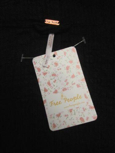 de froissé Noir mélange Slouchy coton Jacket People S Free Nwt Boho Welt vwq7E8T