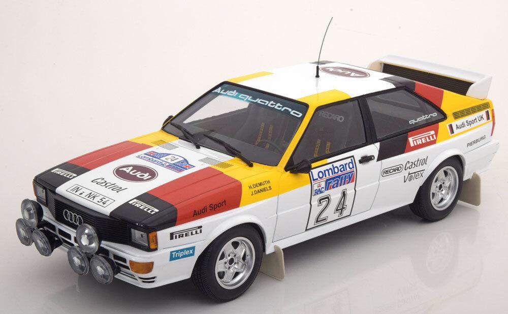 Minichampsi Quattro Lombard Rac Rally 1982 Demuth Daniels  24 1 18 édition limitée de 350