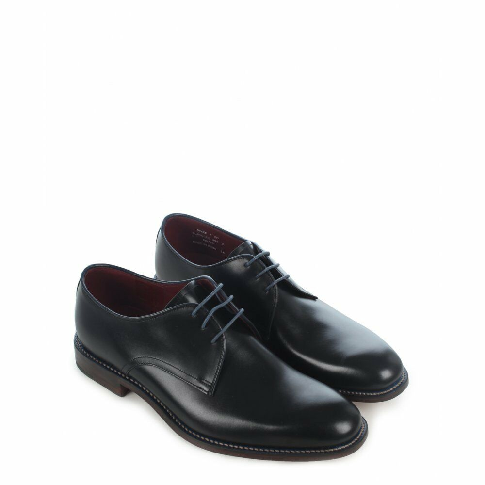 Zapatos De Cuero Zapatos negros Loake Drake, Tamaño 6 7 normalmente