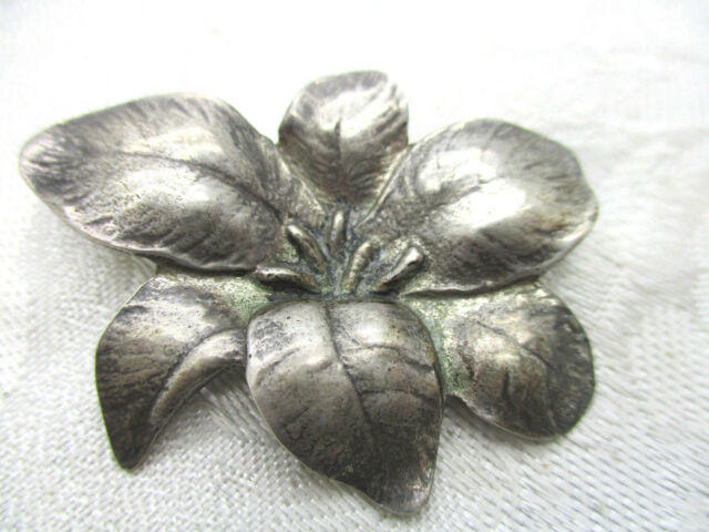 246e3ac2d1b VINTAGE ESTATE JEWELRY SIGNED TAYLORD STERLING 925 SILVER FLOWER BROOCH PIN