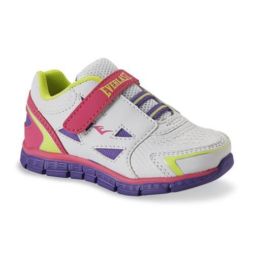 New Toddler Everlast Dash Running Shoes Style 38990 White//Purple 77F hr
