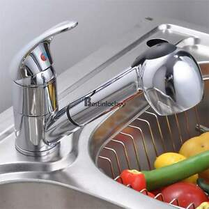 Swivel Spout Kitchen Single Handle Pull Out Faucet with Multifunctional Spray US