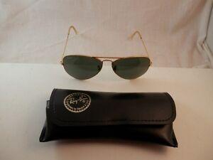 b3b9de14a Vintage B & L RAY BAN Aviador Anteojos de Sol Marcos de tono Oro ...