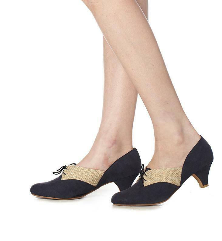 Anise Low Heel in Navy & Straw by Roni Kantor Kantor Kantor Größe 37 & 41 Available d13284