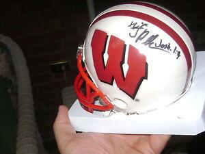 Jared Abbrederis Wisconsin Badgers Signed Helmet NCAA ...