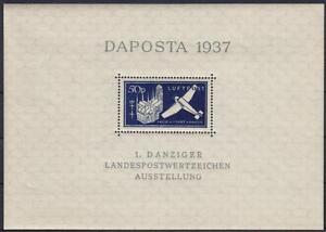 Danzig-Block-2-I-DAPOSTA-1937-MNH-PF-I-gebrochene-7-M-50