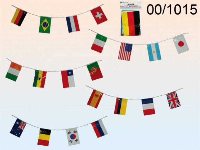 Fahnenkette Flaggenkette Girlande Argentinien Fahnen Flaggen 15x22cm