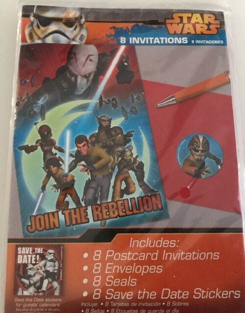 Star Wars Rebels Birthday Party Invitations Envelopes Stickers Pack Of 8