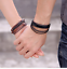 Mens-Handmade-Leather-Braided-Surfer-Wristband-Bracelet-Bangle-Wrap-CLEARANCE thumbnail 3