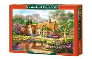 "Brand New Castorland Puzzle 3000 TWILIGHT AT WOODGREEN POND 36"" x 27"" C-300365"