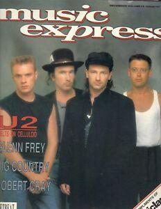 BONO U2 Music Express Magazine 12/88 GLENN FRY ROBERT CRAY JOAN JETT THE BANGLES