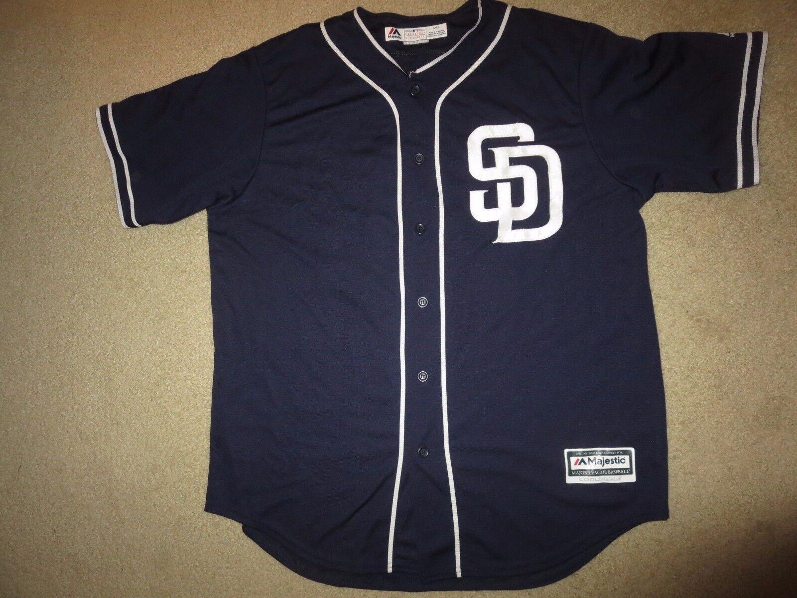 Yangervis Solarte San  26 San Solarte Diego Padres Majestic MLB Trikot L L 886b99