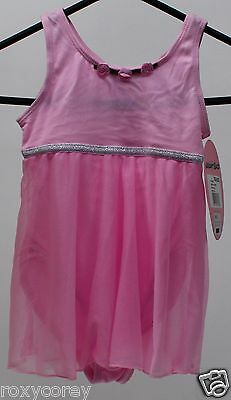 Freestyle Danskin Black Sleeveless Leotard w//attached Glitter Skirt Small 6//6X