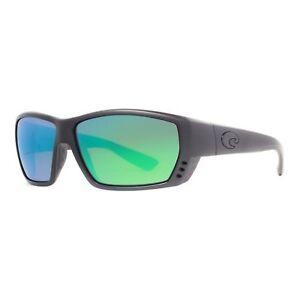 98605a54b54 Image is loading Costa-Del-Mar-Tuna-Alley-Sunglasses-Blackout-Green-