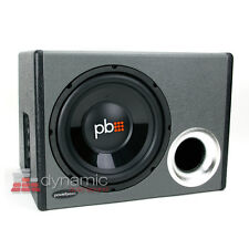 """PowerBass RTA-110 Car 10"""" Loaded Subwoofer Ported Enclosure Box + 350W Amp New"""