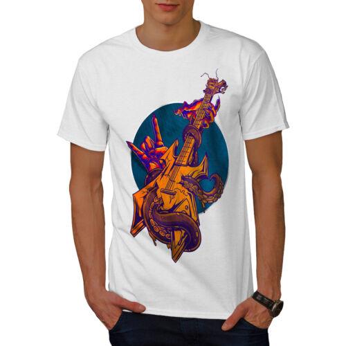 Metal Graphic Design Printed Tee Wellcoda Guitar Rock Metal Music Mens T-shirt