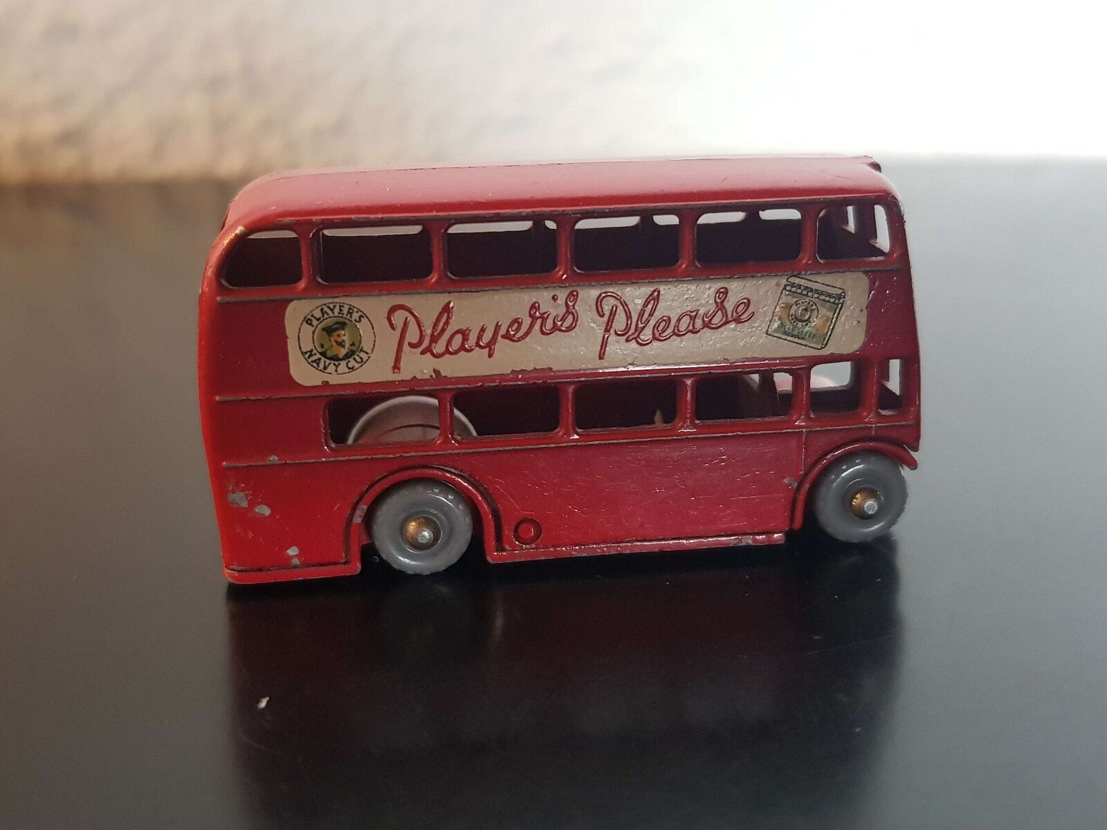 VINTAGE LESNEY Routemaster no. 5 Player's please please please  fail missing LABEL beaa7f