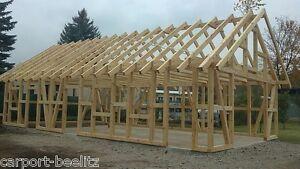 Fertiggarage holz bausatz  Fachwerk Garage - Cottbus, Satteldach KVH 6,80 x 13,20 als Bausatz ...