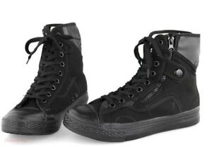 Mens-Lace-Up-Military-High-Top-Hiking-Side-Zip-Work-Shoes-Tactical-Ankle-Boots