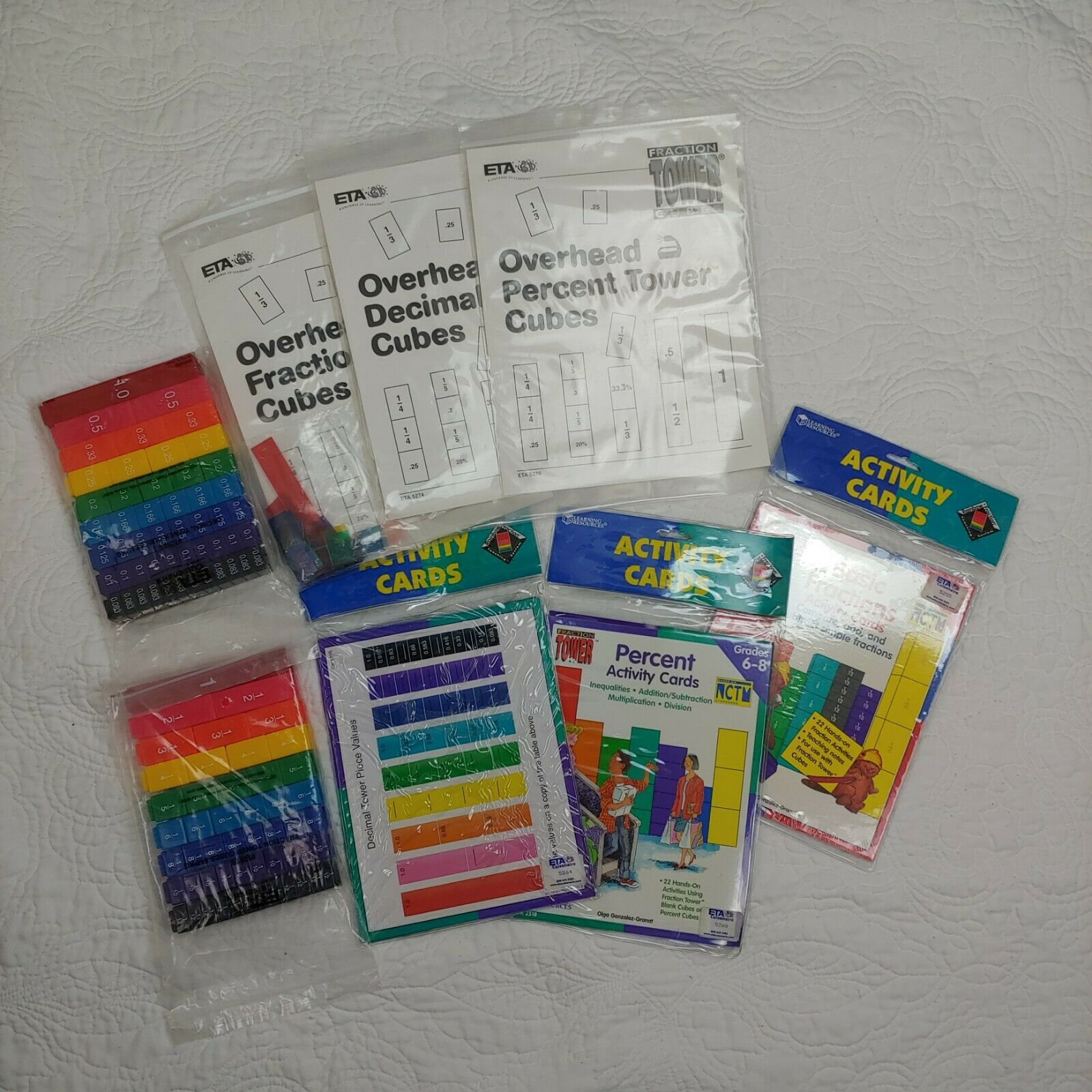 Learning Resources Manipulatives LOT - fraction tower, decimal tower grades 6-8