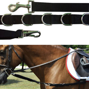 New-nylon-and-elastic-clip-n-039-dee-side-reins-one-size-fits-most