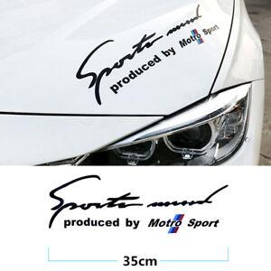 1Pcs Black Sports Mind Motro Sport Car Front Hood PVC Best Sticker Racing Decals