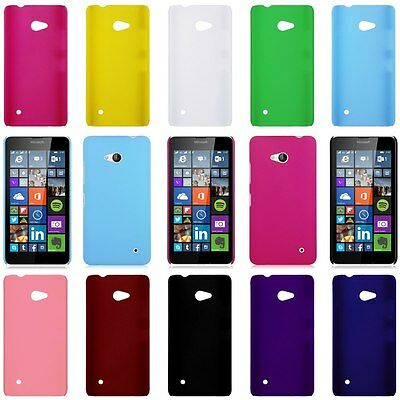 For Microsoft Lumia 640 LTE / 640 XL Hard Rubberized Matte PC Snap-On Cover Case