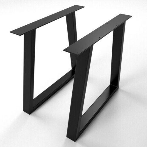 2x Piedi tavolo gambe a forma di TRAPEZIO - Metal Table Legs - Pieds de table