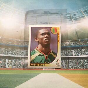 PANINI ROOKIE RC SAMUEL ETO'O WORLD CUP CAMEROUN JAPAN KOREA 2002 #383 BARCELONA