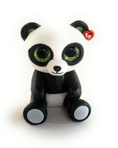 TY BEANIE BOOS MINI BOOS SERIES 1 BAMBOO THE PANDA BEAR