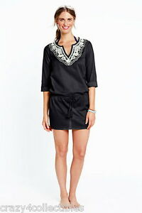 NWT-LANDS-END-L-14-16-COTTON-LAWN-Embroidered-DROP-WAIST-SWIMSUIT-COVER-UP-59