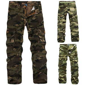 Men-039-s-Hunting-Camo-Combat-Work-Cargo-Pants-Casual-Military-Army-jungle-Trousers