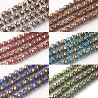 Wholesale Crystal Glass Rondelle Faceted Finding 20/40Pcs Loose Spacer Beads 8mm